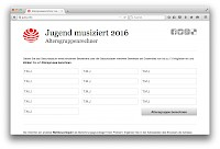 Webtool: Calculator to determine the age group for the competition 'Jugend Musiziert'